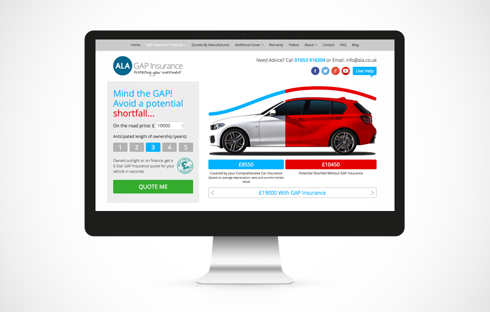 Interactive Infographic for leading online Motor Insurance provider