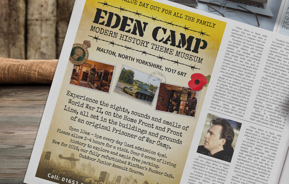 Eden Camp: Advertising by Intravenous
