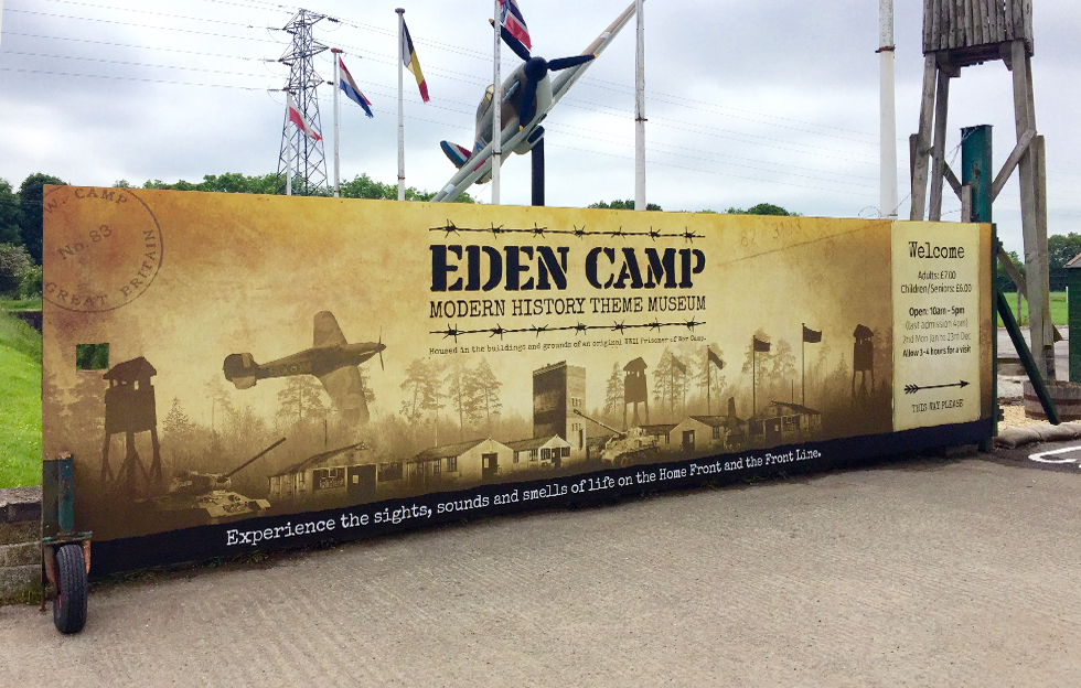 Eden Camp: Signage by Intravenous