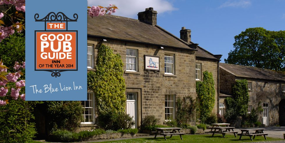 The Blue Lion named Good Pub Guide Inn of the Year 2014