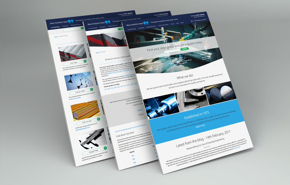 West Yorkshire Steel: Website by Intravenous